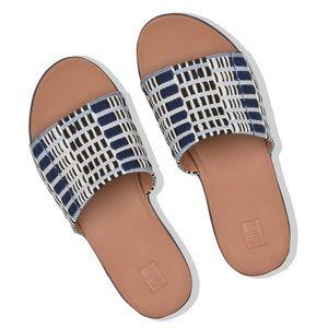 👖🆕 FitFlop ✦ Sola Artistic Slide Sandal ✦ Denim